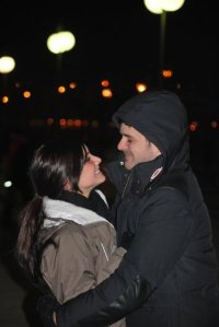 Popping the question in Budapest.